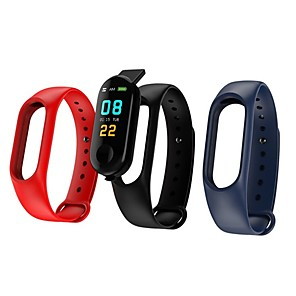 ieftine Ceasuri Brățară-KUPENG M3 Unisex Brățară inteligent Android iOS Bluetooth Sporturi Rezistent la apă Monitor Ritm Cardiac Măsurare Tensiune Arterială Touch Screen Pedometru Reamintire Apel Monitor de Activitate