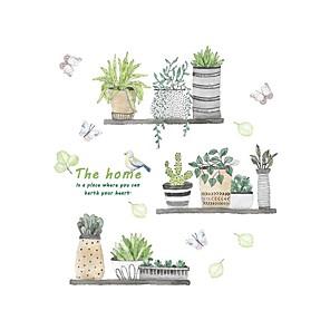 ieftine Acțibilde de Decorațiuni-Autocolante de Perete Decorative - Autocolante perete plane Floral / Botanic Interior