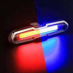 ieftine Lumini de Bicicletă-LED Lumini de Bicicletă Iluminat Bicicletă Spate lumini de securitate luminile din spate Ciclism montan Bicicletă Ciclism Rezistent la apă Portabil Alarmă Culoare Gradient Baterie Li-Ion
