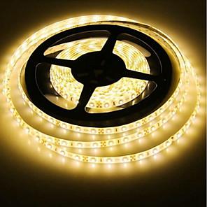 ieftine Benzi Lumină LED-SENCART 5m Fâșii De Becuri LEd Flexibile 300 LED-uri 2835 SMD 1 buc RGB Alb Roșu Ce poate fi Tăiat Decorativ De Legat 12 V / Potrivite Pentru Autovehicule / Auto- Adeziv