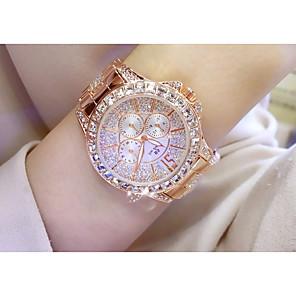 ieftine Ceasuri Brățară-Pentru femei Ceas de Mână Quartz Argint / Auriu / Roz auriu Cronograf Cool imitație de diamant Analog Elegant Modă - Roz auriu / Argintiu Auriu Argintiu / Oțel inoxidabil