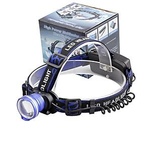 ieftine LED-uri-U'King Frontale Becul farurilor 2000 lm LED LED emițători 3 Mod Zbor Zoomable Alarmă Focalizare Ajustabilă Dimensiune Compactă De mare putere Ușor de Purtat Camping / Cățărare / Speologie Utilizare