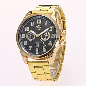 ieftine Ceasuri pt Rochii-Bărbați Ceas de Mână Quartz Casual Calendar Auriu Analog - Negru Auriu Un an Durată de Viaţă Baterie / Mare Dial