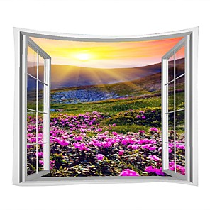 ieftine Conectori-Peisaj / Familie Wall Decor 100% Poliester Modern Wall Art, Tapiserii de perete Decor