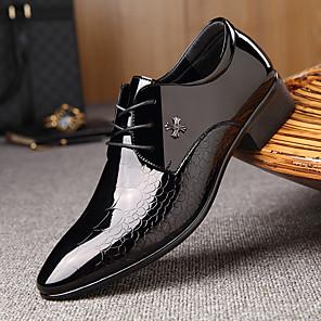 povoljno Muške oksfordice-Muškarci Formalne cipele Koža Proljeće ljeto Posao / Uglađeni Oksfordice Nosite dokaz Crn / Zabava i večer