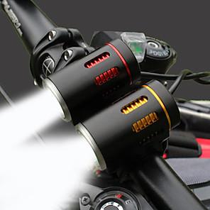 ieftine Breloc LED-LED Lumini de Bicicletă Iluminat Bicicletă Față Bicicletă Ciclism Rezistent la apă Rotativ Durabil Baterie Li-Ion reîncărcabilă 2000 lm Alb Camping / Cățărare / Speologie Polițist / Militar Ciclism