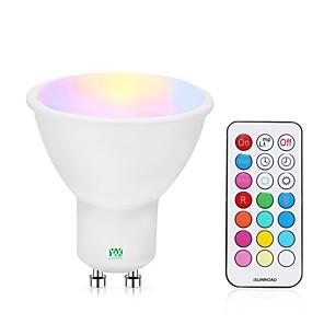 ieftine Spoturi LED-YWXLIGHT® 1 buc 5 W Spoturi LED 400-500 lm GU10 24 LED-uri de margele SMD Intensitate Luminoasă Reglabilă Telecomandă RGBW RGBWW 85-265 V