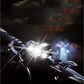 ieftine Frontale-LED Lumini de Bicicletă Iluminat Bicicletă Față Ciclism montan Bicicletă Ciclism Rezistent la apă Foarte luminos Portabil Ajustabil nici o baterie 400 lm Baterii alimentate Alb Camping / Cățărare