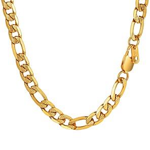 ieftine Coliere-Bărbați Lănțișoare Figaro lanț Mariner Chain La modă Modă Teak Auriu Negru Argintiu 55 cm Coliere Bijuterii 1 buc Pentru Cadou Zilnic