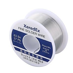 ieftine Ciocan de lipit & Accesorii-xeredex 0,8mm 2% flux de plumb de plumb de colofoniu rola de bază de argint de lipire de sârmă de sudură de lipit de reparare instrument de tambur topit kit 63% sn 100g albastru