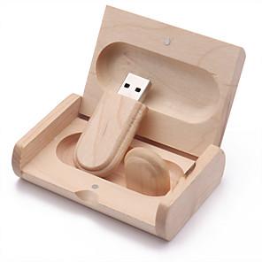 ieftine USB Flash Drives-16GB Flash Drive USB usb disc USB 2.0 De lemn Neregulat Stocare Wireless