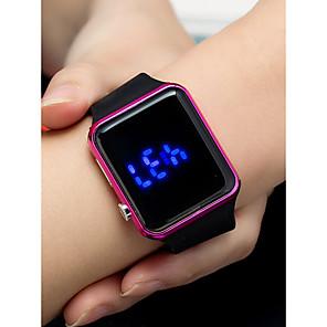 ieftine Bijuterii de Păr-Pentru femei Ceas digital Piața de ceas Piloane de Menținut Carnea Silicon Negru 30 m Rezistent la apă Creative LCD Piloane de Menținut Carnea Modă Ceas simplu - Negru Auriu Roz auriu