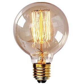 ieftine Becuri LED Glob-1pc vintage becuri edison cu filament spiral 40w dimmable e27 g95 glob rotund mare antichitate lumina aur finisaj design industrial chihlimbar