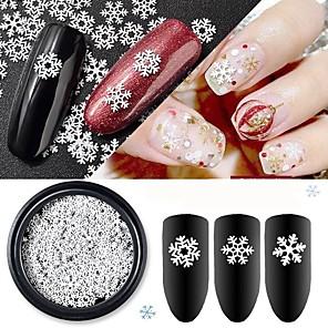 ieftine Îngrijire Unghii-1 pcs Clasic / Design subțire Aliaj Metalic Paiete Pentru Unghie Seria albă Vacanță nail art pedichiura si manichiura Crăciun / Zilnic De Bază / Natură