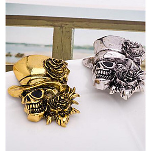 hesapli Broşlar-Erkek Broşlar 3D Kurukafa Bayan Punk Broş Mücevher Altın Gümüş Uyumluluk Halloween
