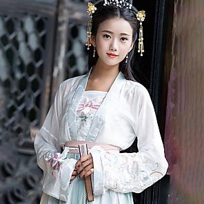 ieftine Becuri LED Glob-Costum de Dans hanfu Pentru femei Antrenament / Performanță Bumbac Pană / Blană Manșon Lung Geacă