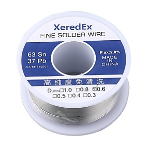 cheap Huawei Screen Protectors-XeredEx 0.8 mm 2% Flux Tin Lead Rosin Roll Core Silver Solder Wire Welding Soldering Repair Tool Reel Melt Kit 63% Sn 50g