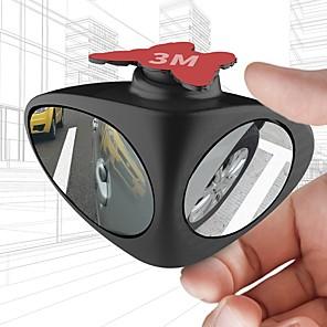 ieftine Abțibilde Auto-Oglindă cu 2 fețe de rotire 360 în 2 grade rotire cu două fețe, oglindă inversă parcare auxiliară mașină retrovizoare