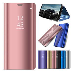 Недорогие Чехол Samsung-Кейс для Назначение SSamsung Galaxy Note 9 / Note 8 / Note 5 со стендом / Покрытие / Зеркальная поверхность Чехол Однотонный Твердый ПК