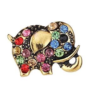 povoljno Broševi-Žene Broševi 3D Slon dame Jednostavan Elegantno Umjetno drago kamenje Broš Jewelry Zlato Za Dnevno