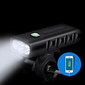 ieftine Lumini de Bicicletă-LED Lumini de Bicicletă Iluminat Bicicletă Față Becul farurilor Ciclism montan Bicicletă Ciclism Rezistent la apă Moduri multiple Foarte luminos Unghi Larg Baterii Lithium-ion Reîncărcabilă 1000 lm