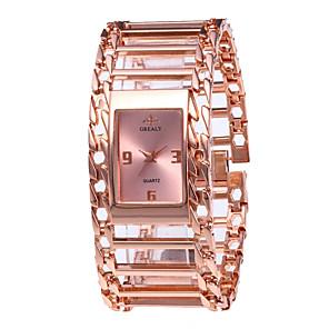 ieftine Cuarț ceasuri-Pentru femei Ceasuri de lux Ceas de Mână ceas de aur Quartz Oțel inoxidabil Argint / Auriu / Roz auriu 30 m Model nou Ceas Casual Analog femei Vintage Modă - Argintiu Roz auriu Negru / Roz auriu