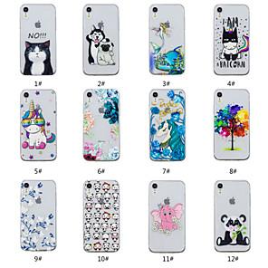 ieftine Frontale-Maska Pentru Apple iPhone XS / iPhone XR / iPhone XS Max Embosat / Model Capac Spate Animal / Copac / Floare Moale TPU