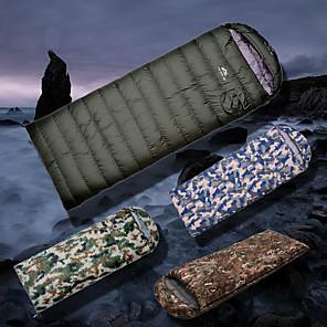 ieftine Legături Fundă-Sac de dormit În aer liber Camping Sac de Dormit Dreptunghiular -10~5 °C Rață Albă Jos Respirabil Impermeabil Cald Ultra Ușor (UL) Gros Rezistenta la uzura 210*80 cm Primăvara & toamnă Iarnă pentru