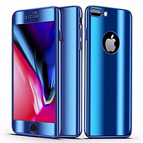 Недорогие Чехлы и кейсы для Galaxy A7-Кейс для Назначение Apple iPhone 8 Pluss / iPhone 7 Plus Зеркальная поверхность / Ультратонкий Чехол Однотонный Твердый ПК