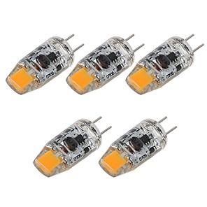 ieftine Becuri LED Bi-pin-SENCART 5pcs 2 W Becuri LED Bi-pin 180 lm G4 T 1 LED-uri de margele COB Decorativ Alb Cald Alb 12 V