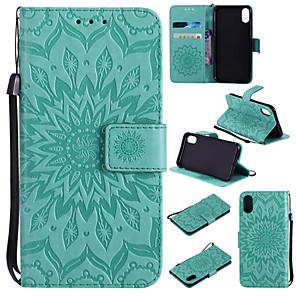 Недорогие Чехол Samsung-Кейс для Назначение Apple iPhone XS / iPhone XR / iPhone XS Max Кошелек / Бумажник для карт / со стендом Чехол Мандала / Однотонный Твердый Кожа PU