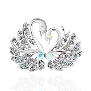 お買い得  ブローチ-女性用 ブローチ クラシック 白鳥 ヴィンテージ ブローチ ジュエリー シルバー 用途 日常
