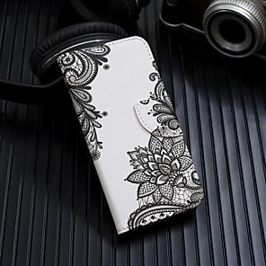 Недорогие Чехлы и кейсы для Galaxy А-Кейс для Назначение SSamsung Galaxy A6 (2018) / A6+ (2018) / Galaxy A7(2018) Кошелек / Бумажник для карт / Флип Чехол Цветы Твердый Кожа PU