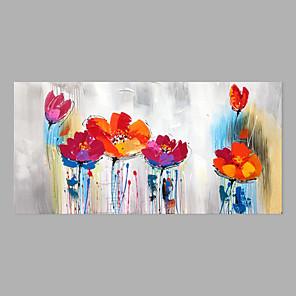 povoljno Bojano-Hang oslikana uljanim bojama Ručno oslikana - Sažetak Cvjetni / Botanički Moderna Bez unutrašnje Frame / Valjani platno