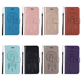 ieftine Colier la Modă-Maska Pentru Motorola Moto Z3 Play / Moto Z2 play / Moto Z Force Portofel / Titluar Card / Cu Stand Carcasă Telefon Bufniţă Greu PU piele