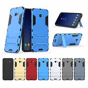 abordables Other Série Protections d'Ecran pour Samsung-Coque Pour Samsung Galaxy J4 Plus Antichoc / Avec Support Coque Couleur Pleine Dur PC