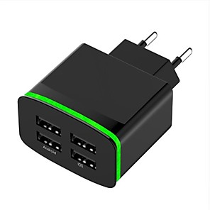 ieftine Mufă de încărcare-Încărcător Portabil Încărcător USB Priză EU Multi-Ieșiri 4 Porturi USB 4 A DC 5V pentru