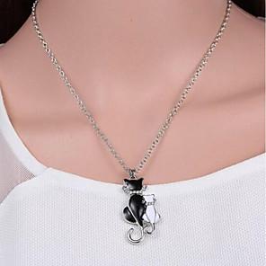 ieftine Colier la Modă-Pentru femei Coliere cu Pandativ #D Pisici femei Simplu Dulce Aliaj Argintiu 42+5 cm Coliere Bijuterii 1 buc Pentru Zilnic