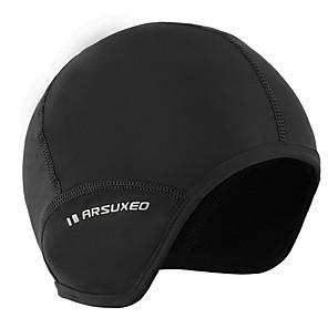 ieftine Walkie Talkies-Arsuxeo Cască Căptușeală Caps Skull Caps Skull Cască Căptușeală Culoare solidă Reflexiv Keep Warm Căptușeală Din Lână Antistatic Înaltă Elasticitate Bicicletă / Ciclism Negru Negru / Roșu Poliester