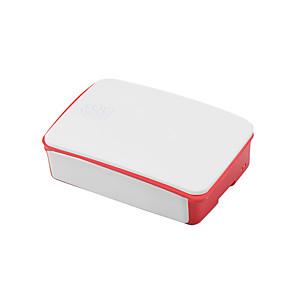 ieftine Module-cutie specială pentru zmeura pi 3b generație 2 material ABS 26 * 96 * 71mm alb-roșu
