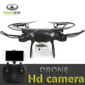 baratos RC Quadcopter-RC Drone s18 BNF 4CH 6 Eixos 2.4G Com Câmera HD 3.0mp 720p Quadcópero com CR Auto-Decolagem / Modo Espelho Inteligente / Vôo Invertido 360° Quadcóptero RC / Controle Remoto / Câmera / Upside-Down Vôo