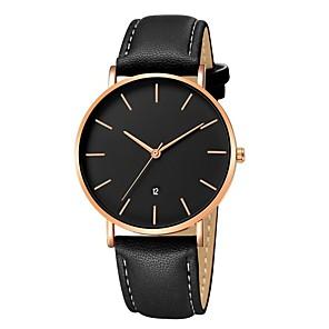ieftine Ceasuri pt Rochii-Bărbați Ceas Elegant Ceas de Mână Quartz Clasic Cronograf Piele Negru / Maro Analog - Roz auriu Aur / alb Alb / Bej Un an Durată de Viaţă Baterie