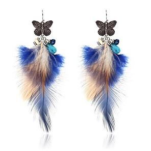 ieftine Cutie de bijuterii și afișaj-Pentru femei Cercei Picătură #D Fluture femei Stilat Design Unic Pană cercei Bijuterii Auriu / Argintiu Pentru Zilnic 1 Pair