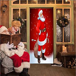 ieftine Cuarț ceasuri-Crăciun / Vacanță Perete Postituri 3D Acțibilduri de Perete Etichete pentru autovehicule, PVC Pagina de decorare de perete Decal Perete / Geam Decor 1 buc / Lavabil