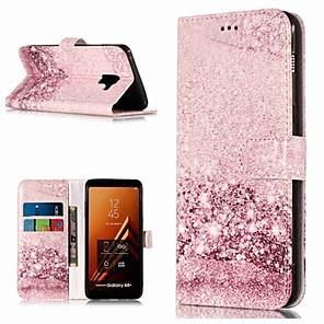 Недорогие Защитные плёнки для экранов Samsung-Кейс для Назначение SSamsung Galaxy A3 (2017) / A5 (2017) / A8 2018 Кошелек / Бумажник для карт / со стендом Чехол Мрамор Твердый Кожа PU