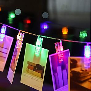 ieftine Fâșii Becurie LED-zdm 4m 40 buc LED-uri șir de lumini foto 40 clipuri foto interfață cu baterii sau usb interfață zâmbitoare luminițe fotografii carduri și lucrări de artă cald alb dc5v
