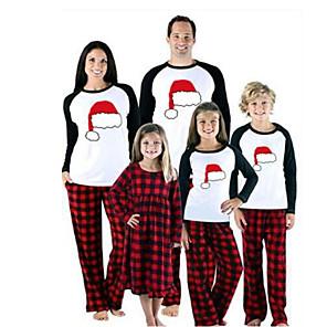 ieftine Aplice de Exterior-Familie Uite De Bază Crăciun Zilnic Animal Crăciun Manșon Lung Set Îmbrăcăminte Roșu-aprins