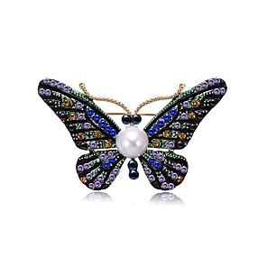 ieftine Cercei-Pentru femei Apă dulce Pearl Broșe Candelabru Fluture femei Design Unic Natură Casual / sportiv Broșă Bijuterii Culori Asortate Pentru Cadou Ieșire