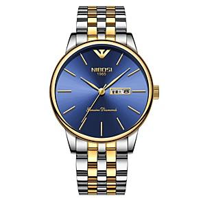 ieftine Ceasuri Bărbați-Bărbați Ceas Elegant Ceas de Mână Japoneză Quartz Japonez Oțel inoxidabil Argint / Auriu 30 m Rezistent la Apă Calendar Cool Analog Clasic Modă - Argintiu / Albastru Aur / argint / negru