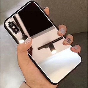 cheap Apple-Case For Apple iPhone XS / iPhone XR / iPhone XS Max Mirror Back Cover Solid Colored Hard Tempered Glass